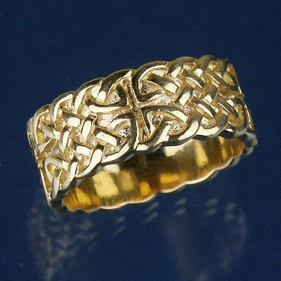 Yellow Gold Wide Celtic Knotwork Band - Size 8.5 - Clearance Gold Jewelry - Huge Savings!, Clearance