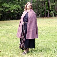 Multi-Color Striped Half Circle Cloak - Cloaks, Samhain / Halloween