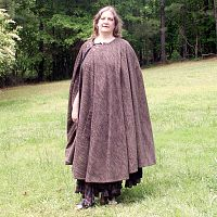 Charcoal Grey Full Circle Cloak with Pockets