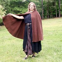 Brown Upholstery Fabric Half-Circle Cloak
