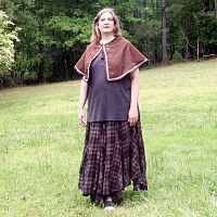 Rich Brown Capelet with Trim - Cloaks, Samhain / Halloween