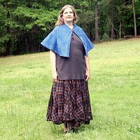 Royal Blue Half-Circle Capelet - Cloaks, Samhain / Halloween
