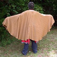 Full-Circle Brown Herringbone Cloak