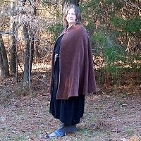 Brown Upholstery Fabric Half-Circle Cloak - Cloaks, Samhain / Halloween