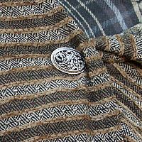 Brown Striped Viking-style Cloak - Extra Large