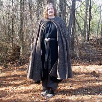 Charcoal Bark Full Circle Cloak - Cloaks, Samhain / Halloween