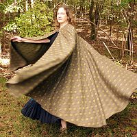 Full Circle Brocade Cloak