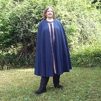 Royal Blue Full Circle Cloak with Trim and Pockets - Cloaks, Samhain / Halloween