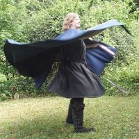 Royal Blue Full Circle Cloak with Trim and Pockets
