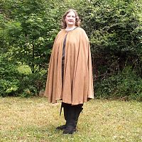 Golden Brown Full Circle Cloak