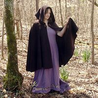 Full Circle Burgundy Polar Fleece Cloak with Hood
