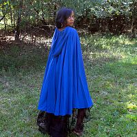 Full Circle Lightweight Royal Blue Cloak with Hood - Handmade Cloaks