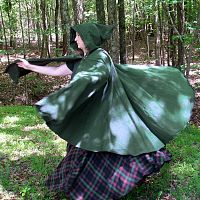Full Circle Forest Green Cloak with Hood