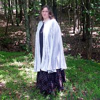 Full Circle Silvery-White Cloak - Hand-Made Cloaks