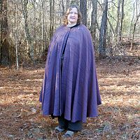 Multi-Color Striped Full Circle Cloak