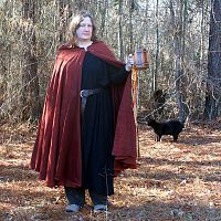 Rusty Red Full Circle Cloak with Hood - Cloaks, Samhain / Halloween