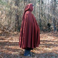 Rusty Red Full Circle Cloak with Hood