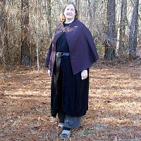 Short Purple Half-Circle Cloak