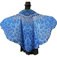 Blue Bird Feather Fairy Wings