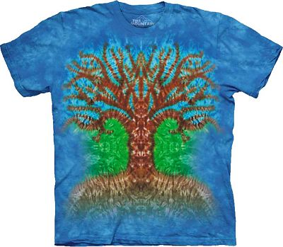 Tie dye tree t shirt for you at gryphon 39 s moon for How do you dye a shirt