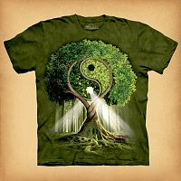 Yin/Yang Tree T-Shirt - T-Shirts, Trees & Greenman