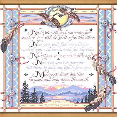 Apache Wedding Blessing Cross Stitch Pattern