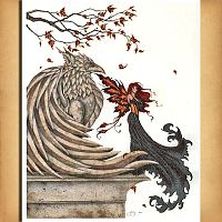 """Autumn Griffin"" Cross Stitch Pattern - Cross-stitch Patterns, Gryphons"