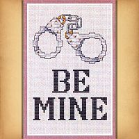 """Be Mine"" Cross Stitch Pattern - Counted Cross Stitch Patterns - Celtic Patterns, Pagan Patterns, Fantasy Patterns and more, Hearts & Romance"