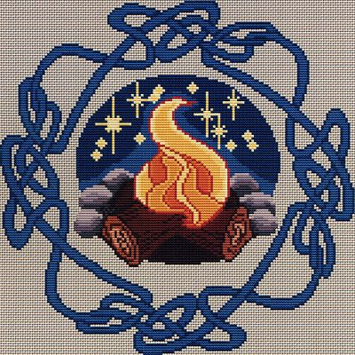 Beltane Bonfire Cross Stitch Pattern