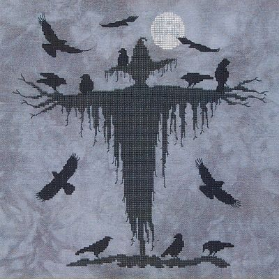 """Beneath the Harvest Moon"" Cross Stitch Pattern"