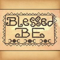 """Blessed Be"" Cross Stitch Pattern"