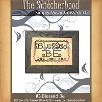 """Blessed Be"" Cross Stitch Pattern - Counted Cross Stitch Patterns - Celtic Patterns, Pagan Patterns, Fantasy Patterns and more"