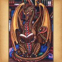 Book Wyrm Cross Stitch Pattern