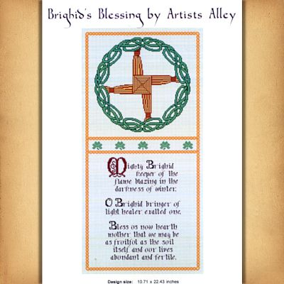 Brighid S Blessing Cross Stitch Pattern Free Shipping On