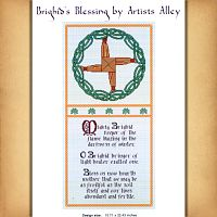 Brighid's Blessing Cross Stitch Pattern - Counted Cross Stitch Patterns - Celtic Patterns, Pagan Patterns, Fantasy Patterns and more, Goddess