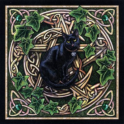 Cat Pentagram Cross Stitch Pattern - Counted Cross Stitch Patterns - Celtic Patterns, Pagan Patterns, Fantasy Patterns and more, Cats, Pentacles
