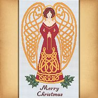 Celtic Christmas Angel Cross Stitch Pattern