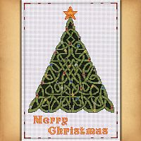 Celtic Christmas Tree Cross Stitch Pattern