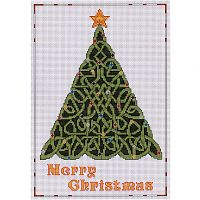Celtic Christmas Tree Cross Stitch Pattern - Counted Cross Stitch Patterns - Celtic Patterns, Pagan Patterns, Fantasy Patterns and more, Holiday Cross-stitch
