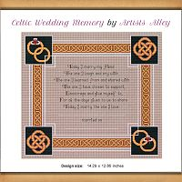 Celtic Wedding Memory Cross Stitch Pattern