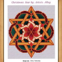 Christmas Star Cross Stitch Pattern