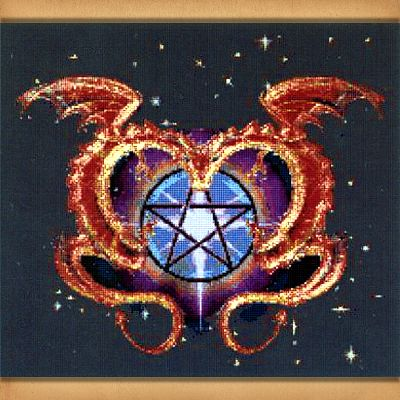 Dragon Love Cross Stitch Pattern