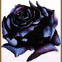 Dark Rose Cross Stitch Pattern