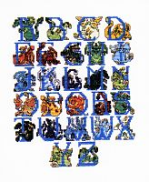 Dragon Alphabet Cross Stitch Pattern