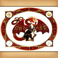 """Dragon Fire"" Cross Stitch Pattern"