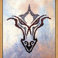 Dragoneyes Cross Stitch Pattern - Fantasy, Counted Cross-stitch Patterns - Celtic, Pagan, Wiccan, Goddess, Fantasy and more, Here Be Dragons!