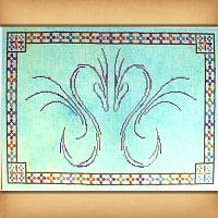 Dragonheart Cross Stitch Pattern - Here Be Dragons!, Counted Cross-stitch Patterns - Celtic, Pagan, Wiccan, Goddess, Fantasy and more, Hearts & Romance, Handfasting & Wedding