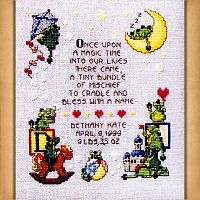 Dragonlet's Birth Sampler Cross Stitch Pattern