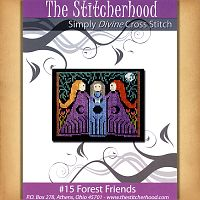 Forest Friends Cross Stitch Pattern - Counted Cross Stitch Patterns - Celtic Patterns, Pagan Patterns, Fantasy Patterns and more, Goddess, Moons & Stars