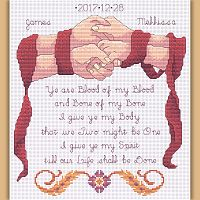 Handfasting Keepsake Cross Stitch Pattern
